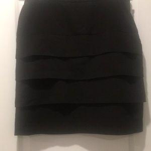 Beautiful black layered skirt